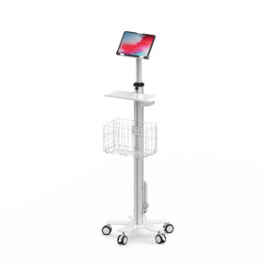 Rolling Medical Cart with Adjustable-Height